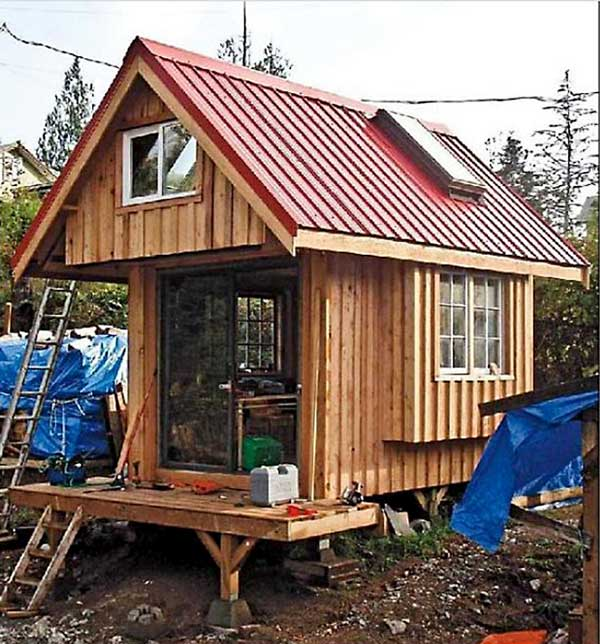 Tiny homes simple shelter back to nature for Board and batten homes