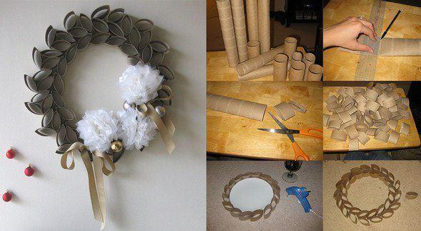 Χριστουγεννιάτικες κατασκευές από ανακυκλώσιμα υλικά!!Φτιάξ'το μόνος σου